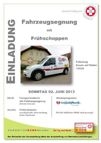 Fahrzeugsegnung 2013