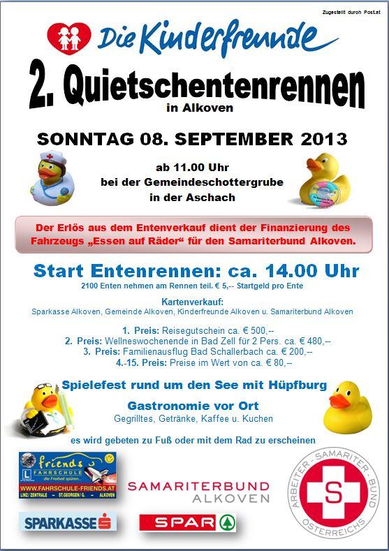 Plakat Quietscheentenrennen 2013