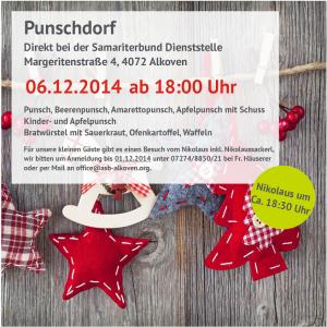 Punschdorf 2014 beim Samariterbund Alkoven